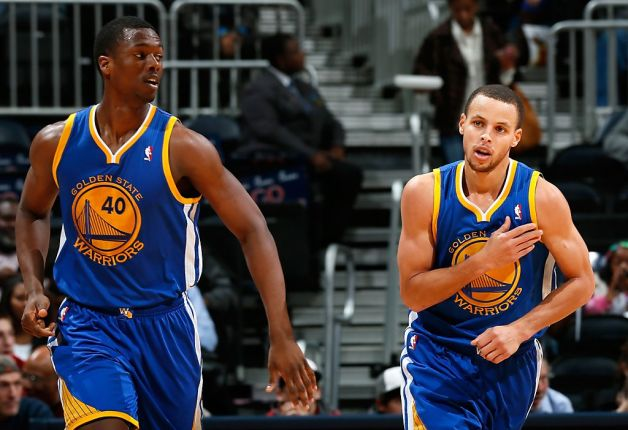 Harrison Barnes and Stephen Curry