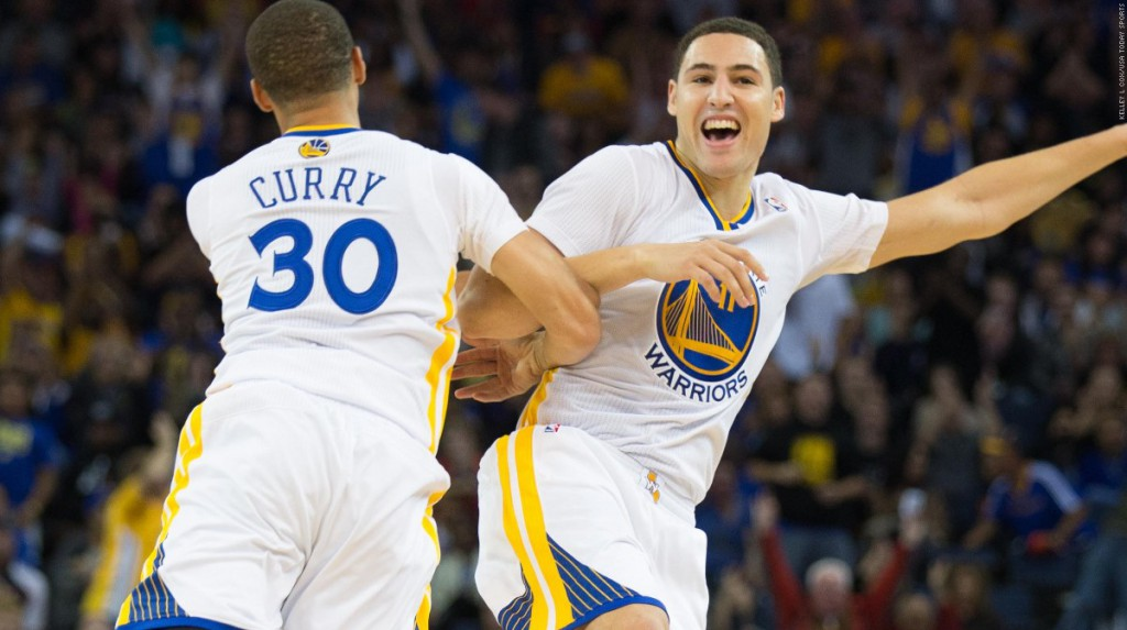 Klay and Curry Happy