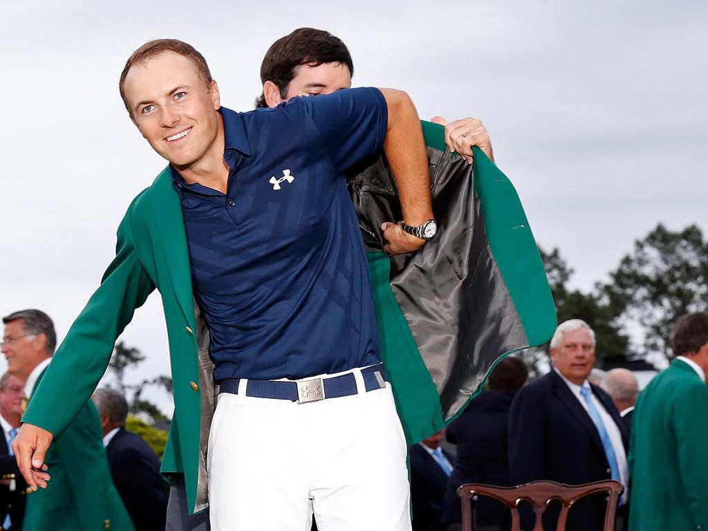 Spieth and Green Jacket