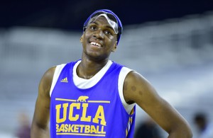 Mar 26, 2015; Houston, TX, USA; UCLA Bruins forward Kevon Looney during practice the day before the semifinals of the south regional of the 2015 NCAA Tournament at NRG Stadium. Mandatory Credit: Bob Donnan-USA TODAY Sports