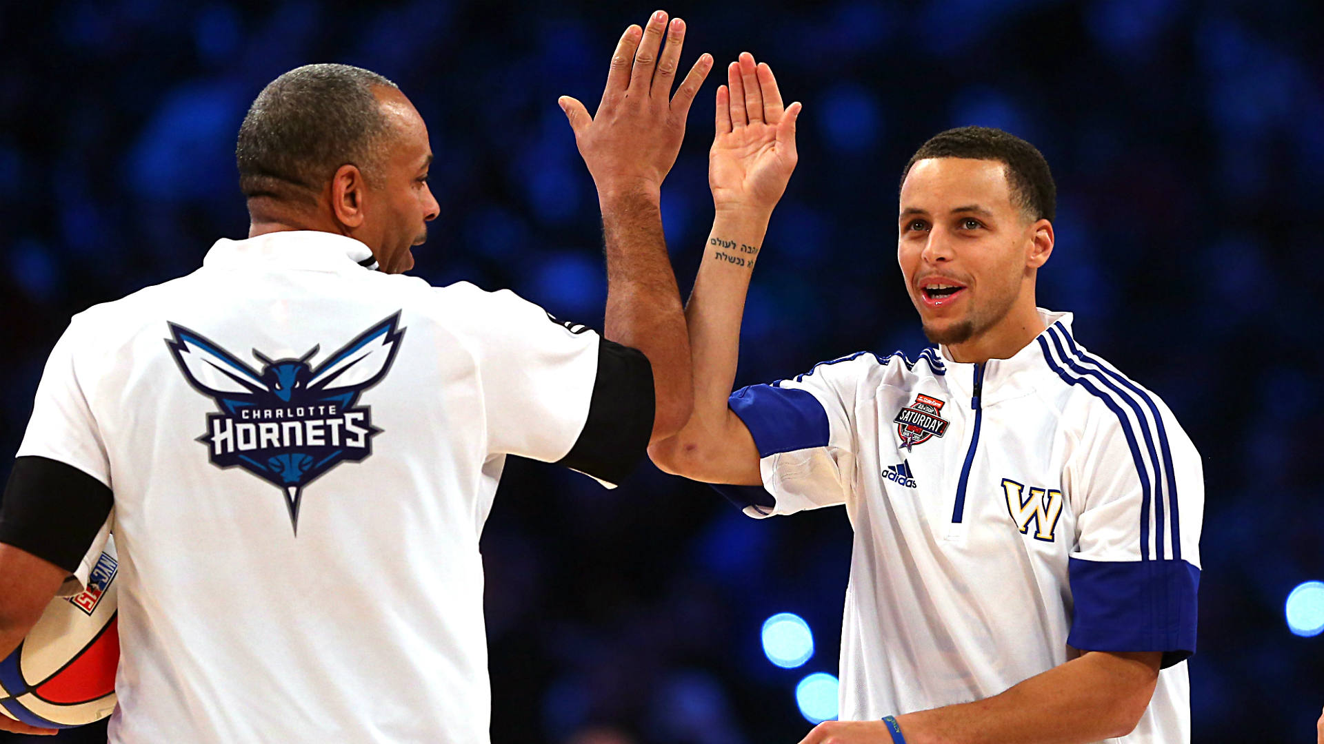 Curry and dad