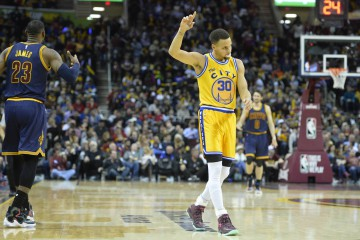 Stephen Curry Celebrates