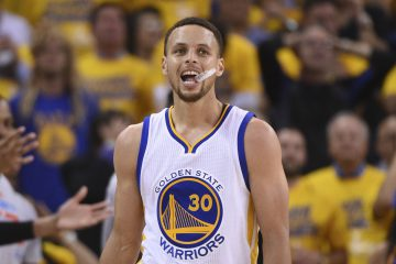 May 16, 2016; Oakland, CA, USA; Golden State Warriors guard Stephen Curry (30) reacts against the Oklahoma City Thunder during the fourth quarter in game one of the Western conference finals of the NBA Playoffs at Oracle Arena. The Thunder defeated the Warriors 108-102. Mandatory Credit: Kyle Terada-USA TODAY Sports
