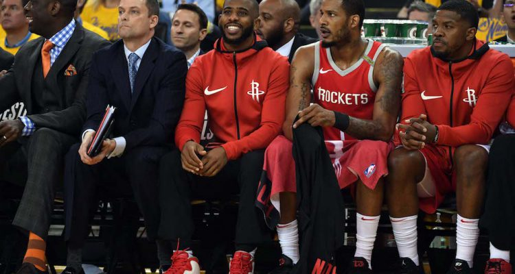 Chris Paul out of Rockets lineup for Warriors decider